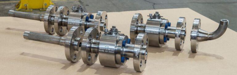 Válvulas de bola con conexiones especiales para una planta petrolífera en alta mar