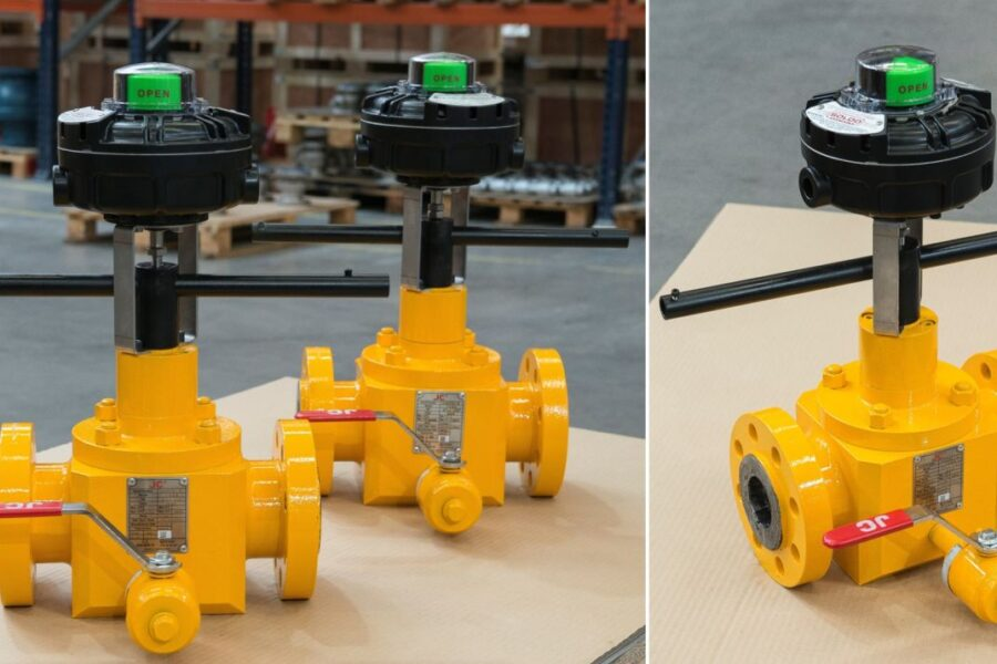 Tailor-made ball valves for an onshore energy project